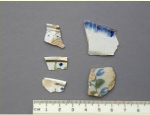 Shards of 19th century ceramics