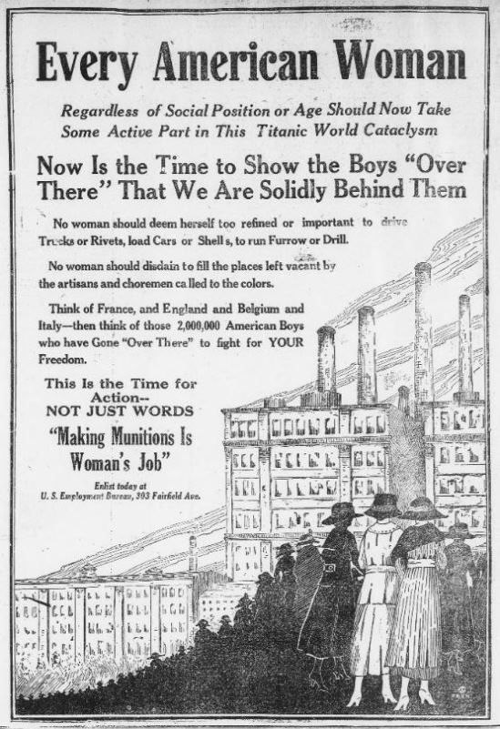 Advertisement from The Bridgeport Times and Evening Farmer. Bridgeport, Connecticut, September 20 ,1918 - Chronicling America: Historic American Newspapers. Library of Congress
