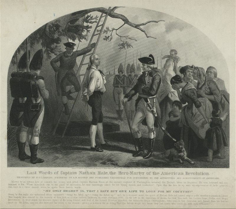 Last Words of Captain Nathan Hale