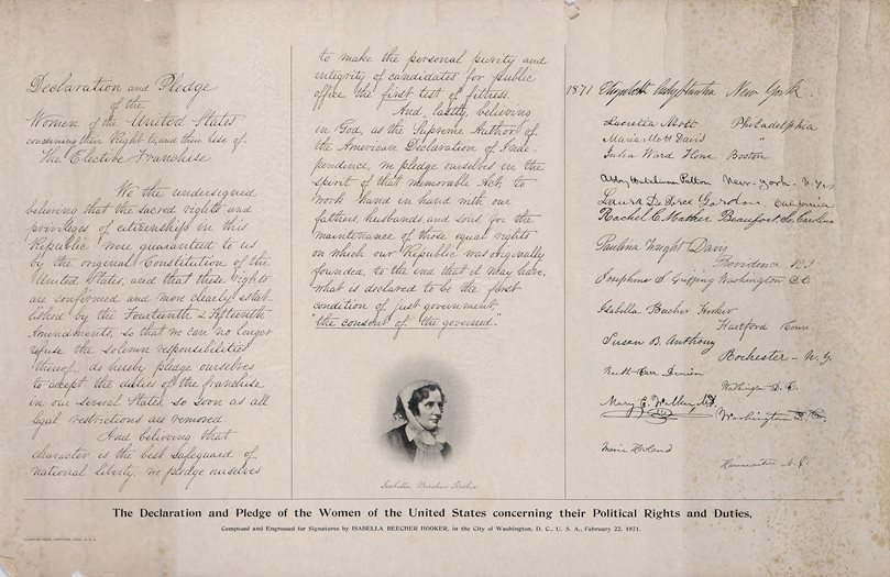Declaration and pledge of the women of the United States