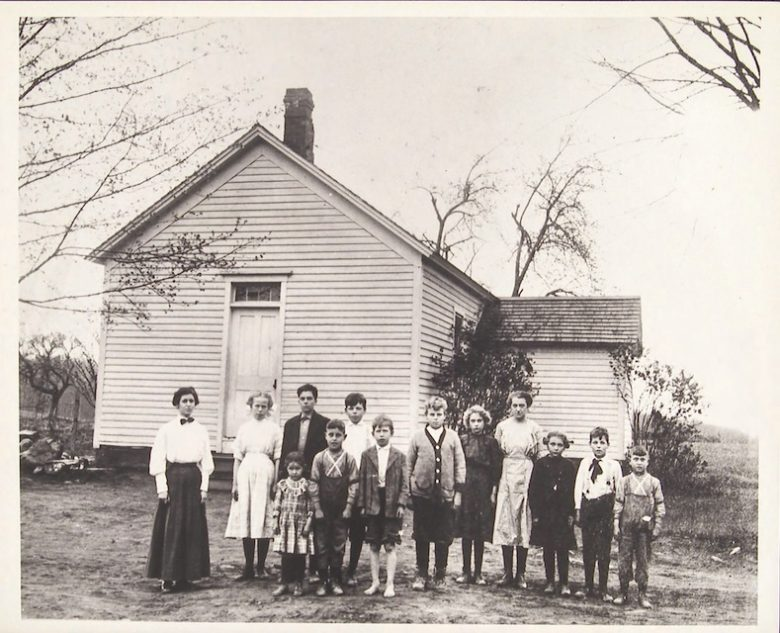 Moses District School, Burlington, CT, ca. 1895 – 1920 – Connecticut State Library