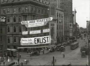 World War I enlistment banner