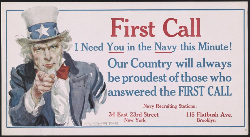 World War One poster First Call!