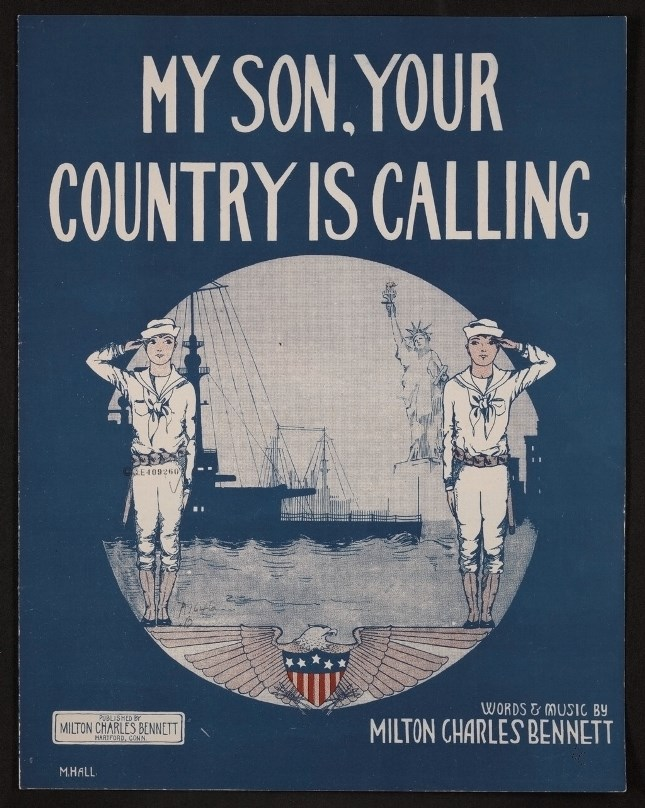 WWI Sheet music My Son, Your Country is Calling