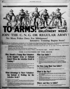 World War I enlistment advertisement