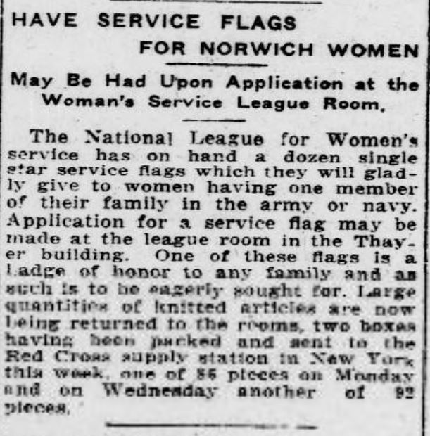 Have Service Flags for Norwich Women