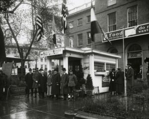 Liberty Bond cottage outside Old State House, 1917
