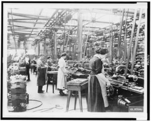 Women working in Colt factory during World War I