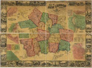 Real property map of New London County, 1854