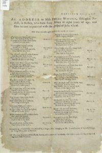 Poem by Jupiter Hammon