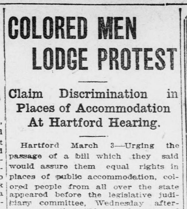 Colored Men Lodge Protest