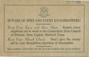 Beware of Spies and Enemy Eavesdroppers!