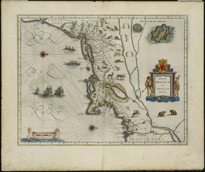 Willem Blaeu (Dutch), Nova Belgica et Anglia Nova, 1635 - This map is held in the collections of the Connecticut Historical Society and the Norman B. Leventhal Map Center at the Boston Public Library