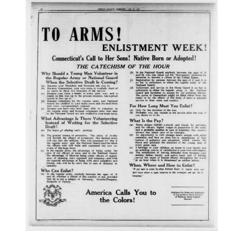 To Arms! Enlistment Week!
