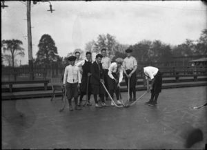 Boys field hockey team, Colt Park, Hartford, 1921