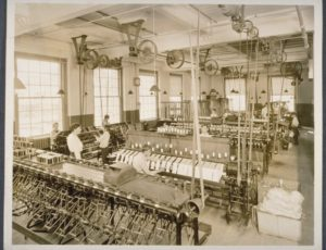 Mill interior, Cheney Brothers Silk Manufacturing Company, Manchester, 1918