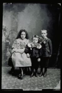 Three children of Mrs. Kalstrom, 1890-1899