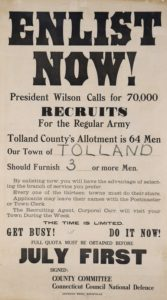 Enlistment poster from Tolland, Connecticut