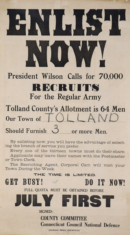 World War One poster Enlist Now!