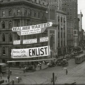 World War I enlistment banner