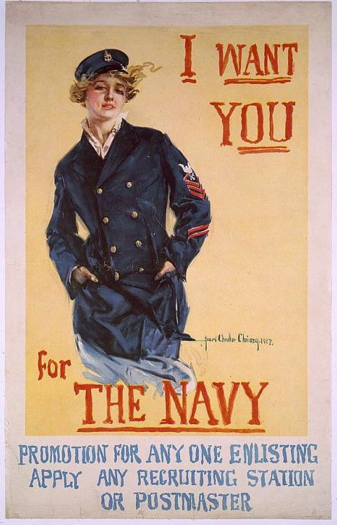 """WWI recruitment poster """"I Want YOU"""""""