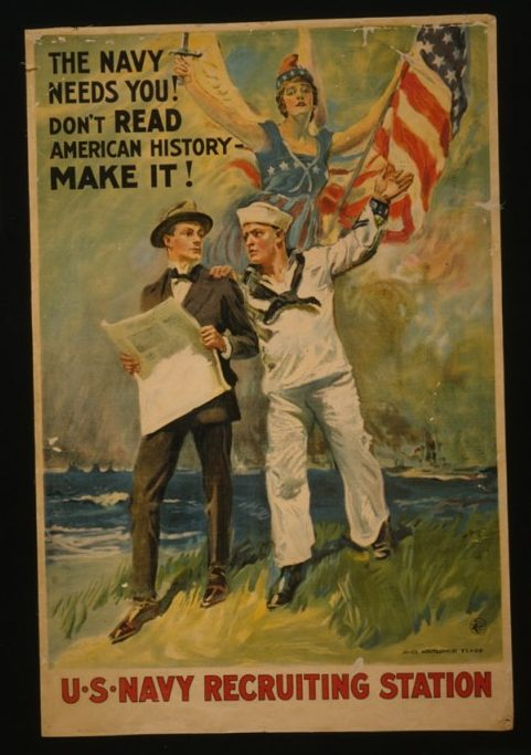 US Navy Recruiting Station Poster, 1917