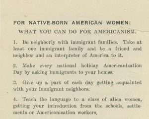 Detail of the pamphlet American Ideals