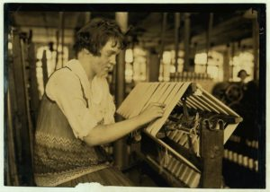 Child worker in the Cheney Silk Mills