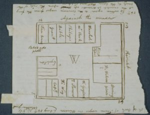 Plan of the state's first English settlement