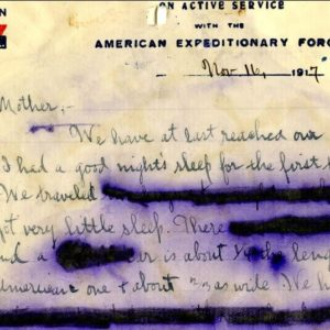 Letter from Charles F. Coughlin to his mother, November 16, 1917