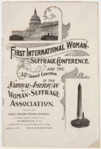 First International Woman Suffrage Conference, 1902