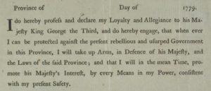 British Loyality Oath